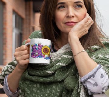 MOM with Coffee mug